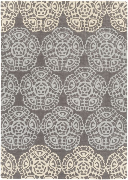 Mamba Contemporary Light Gray Butter Polyester Area Rug (L 132 X W 96) MBA9019-811