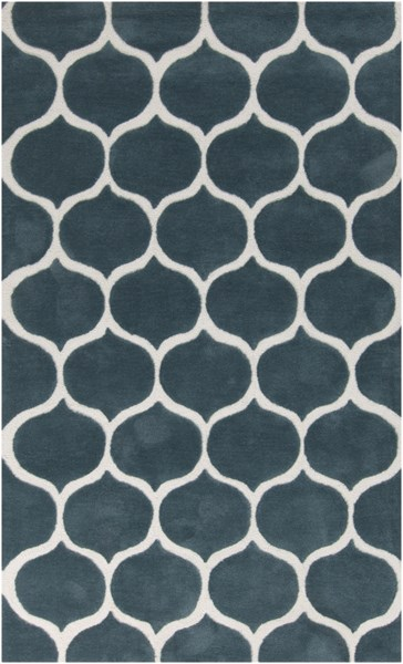 Mamba Contemporary Teal Ivory Polyester Area Rug (L 96 X W 60) MBA9020-58