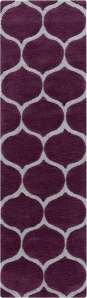 Mamba Contemporary Violet Light Gray Polyester Runner (L 96 X W 30) MBA9021-268
