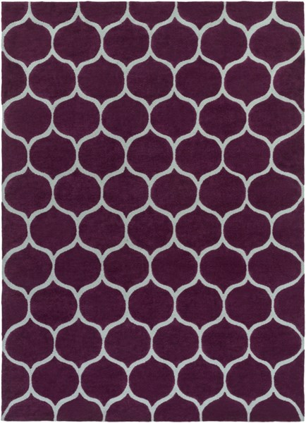 Mamba Contemporary Violet Light Gray Polyester Area Rug (L 132 X W 96) MBA9021-811