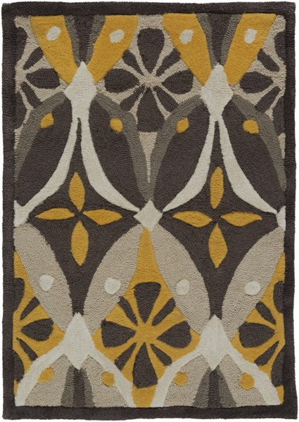 Mamba Contemporary Gray Charcoal Moss Polyester Area Rugs 1431-VAR1