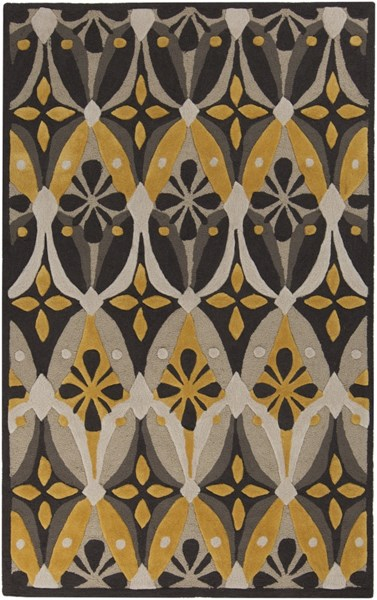 Mamba Contemporary Gray Charcoal Moss Polyester Area Rug (L 96 X W 60) MBA9024-58