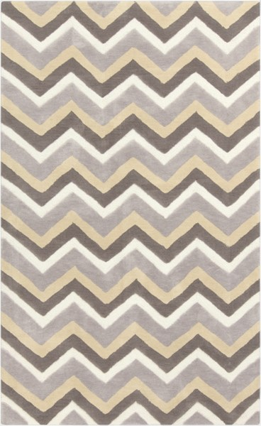 Mamba Contemporary Gray Olive Ivory Polyester Area Rug (L 96 X W 60) MBA9032-58