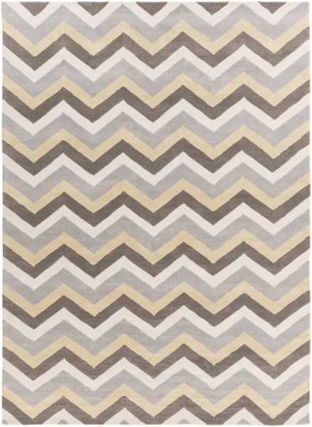 Mamba Contemporary Gray Olive Ivory Polyester Area Rug (L 132 X W 96) MBA9032-811