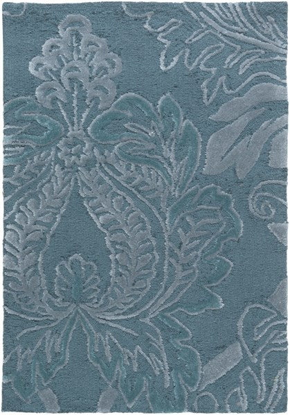 Mamba Contemporary Teal Slate Polyester Area Rug (L 36 X W 24) MBA9038-23