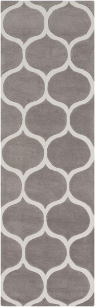 Mamba Contemporary Light Gray Olive Polyester Runner (L 96 X W 30) MBA9057-268