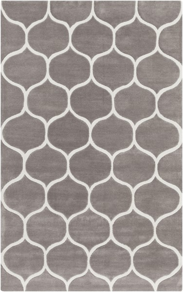 Mamba Contemporary Light Gray Olive Polyester Area Rug (L 96 X W 60) MBA9057-58