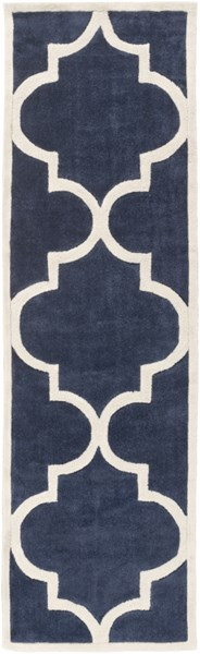 Mamba Contemporary Navy Ivory Polyester Runner (L 96 X W 30) MBA9060-268
