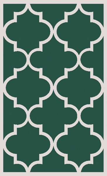 Mamba Contemporary Green Light Gray Polyester Area Rug (L 96 X W 60) MBA9061-58