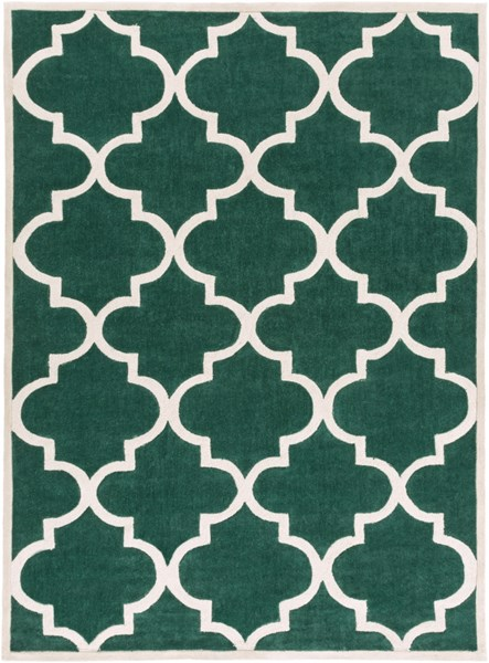 Mamba Contemporary Green Light Gray Polyester Area Rug (L 132 X W 96) MBA9061-811
