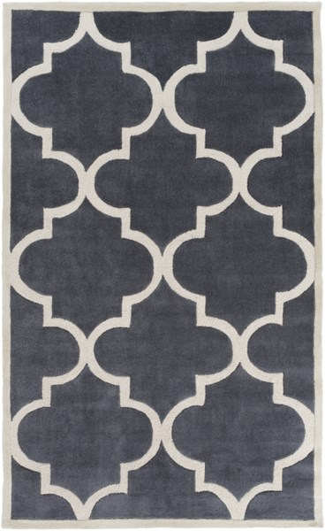 Mamba Contemporary Light Gray Polyester Area Rug (L 96 X W 60) MBA9063-58
