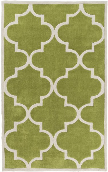 Mamba Contemporary Lime Light Gray Polyester Area Rug (L 96 X W 60) MBA9064-58