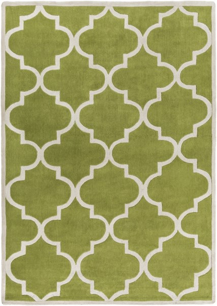 Mamba Contemporary Lime Light Gray Polyester Area Rug (L 132 X W 96) MBA9064-811