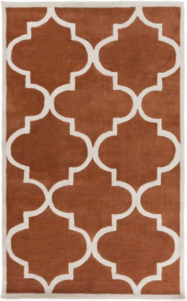 Mamba Contemporary Rust Light Gray Polyester Area Rug (L 96 X W 60) MBA9066-58