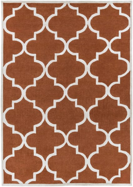 Mamba Contemporary Rust Light Gray Polyester Area Rug (L 132 X W 96) MBA9066-811