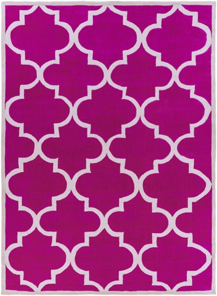 Mamba Contemporary Hot Pink Gray Polyester Area Rug (L 132 X W 96) MBA9069-811