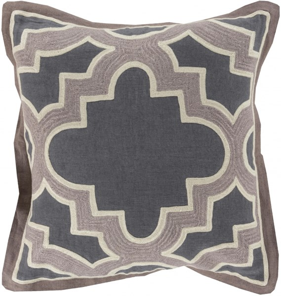 Maze Gray Olive Gray Down Cotton Throw Pillow (L 18 X W 18 X H 4) MCO003-1818D