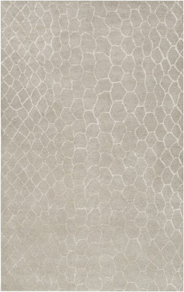 Moderne Contemporary Light Gray Wool Area Rug (L 96 X W 60) MDR1025-58