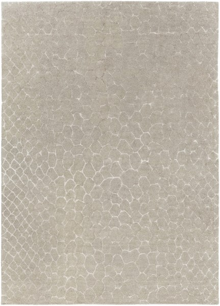 Moderne Contemporary Light Gray Wool Area Rug (L 132 X W 96) MDR1025-811