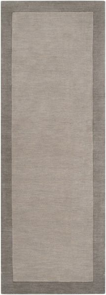 Madison Square Charcoal Light Gray Wool Runner (L 96 X W 30) MDS1000-268