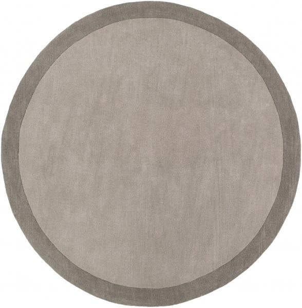 Madison Square Charcoal Light Gray Wool Area Rug (L 96 X W 96) MDS1000-8RD