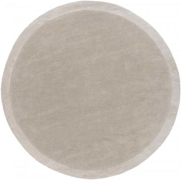 Madison Square Light Gray Ivory Wool Area Rug (L 96 X W 96) MDS1001-8RD