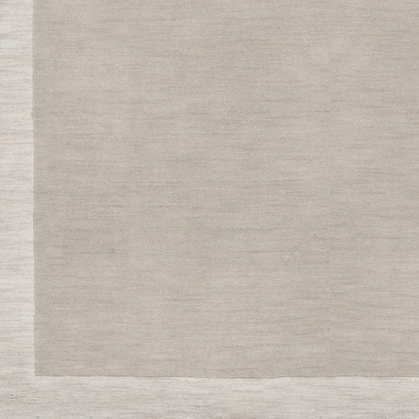Surya Madison Square Light Gray Ivory Wool Sample Area Rug 18 x 18 MDS1001-1616