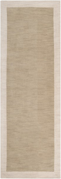 Madison Square Contemporary Olive Taupe Wool Runner (L 96 X W 30) MDS1003-268