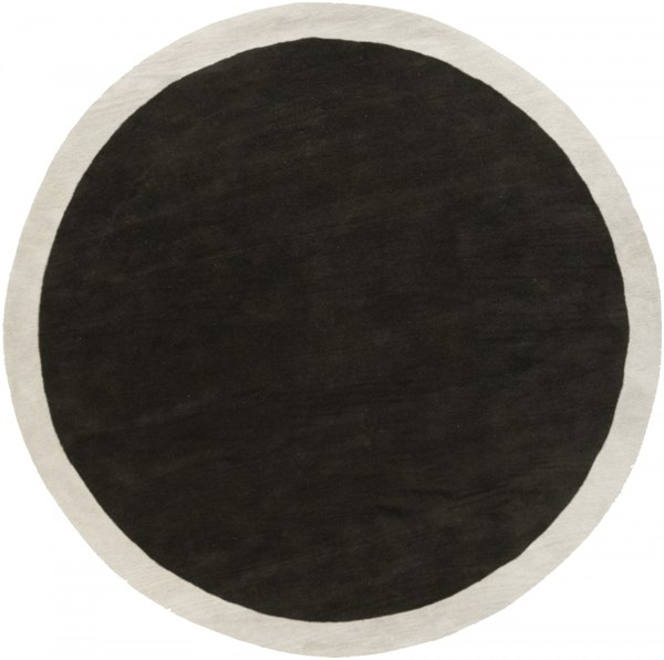 Madison Square Black Light Gray Wool Area Rug (L 96 X W 96) MDS1004-8RD