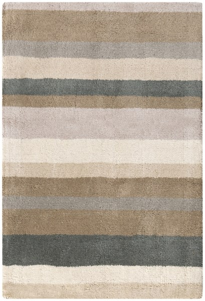 Madison Square Beige Light Gray Wool Area Rug (L 36 X W 24) MDS1006-23