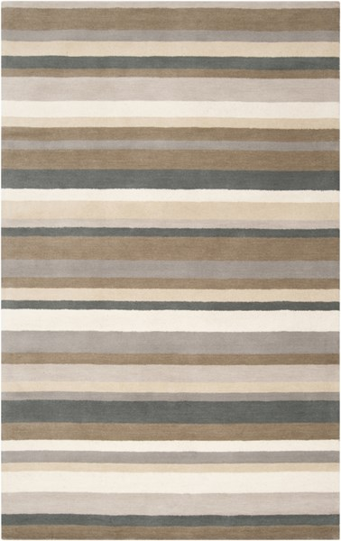 Madison Square Beige Light Gray Wool Area Rug (L 90 X W 60) MDS1006-576