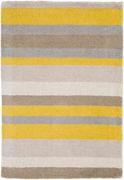 Madison Square Gold Ivory Gray Wool Area Rug (L 36 X W 24) MDS1008-23