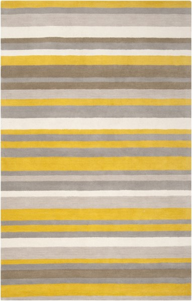Madison Square Gold Ivory Gray Wool Area Rug (L 90 X W 60) MDS1008-576
