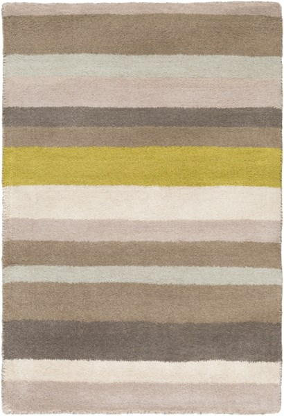 Madison Square Beige Lime Gray Wool Area Rug (L 36 X W 24) MDS1009-23