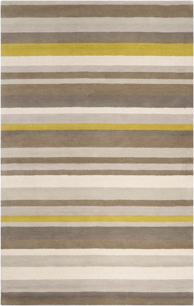 Madison Square Beige Lime Gray Wool Area Rug (L 90 X W 60) MDS1009-576
