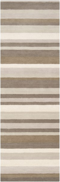 Madison Square Contemporary Light Gray Ivory Wool Runner (L 96 X W 30) MDS1010-268