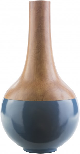Maddox Modern Cobalt Mocha Resin Large Table Vase MDX551-L
