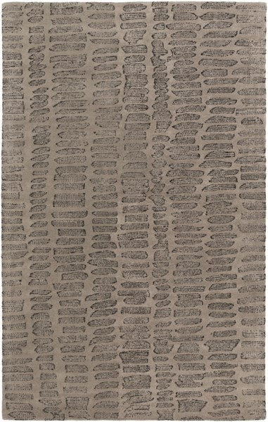 Melody Modern Gray Charcoal Olive Wool Area Rug (L 90 X W 60) MDY2002-576