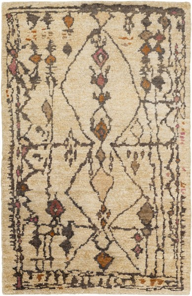 Surya Medina Burnt Orange Pink Beige Jute Area Rug 36 x 24 MED1110-23