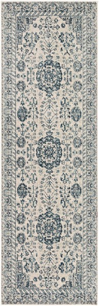 Surya Mesopotamia Medium Gray Teal Navy Runner 94 x 30 MEP2300-26710