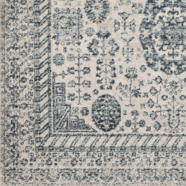 Surya Mesopotamia Medium Gray Teal Navy Sample Area Rug 18 x 18 MEP2300-1616