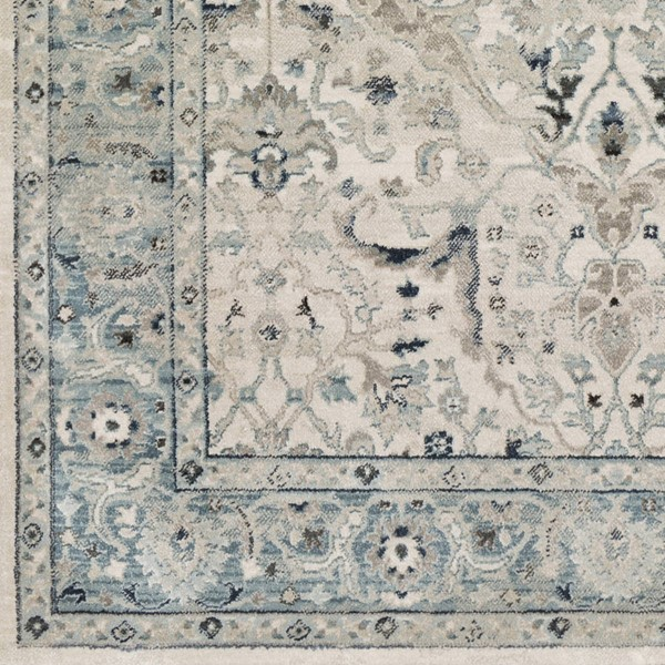 Surya Mesopotamia Medium Gray Teal Ivory Polypropylene Sample Area Rug 18 x 18 MEP2304-1616