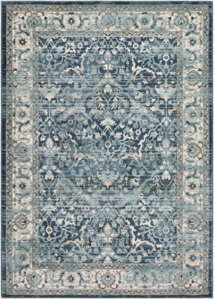 Surya Mesopotamia Navy Medium Gray Navy Polypropylene Area Rug 118 x 94 MEP2306-710910