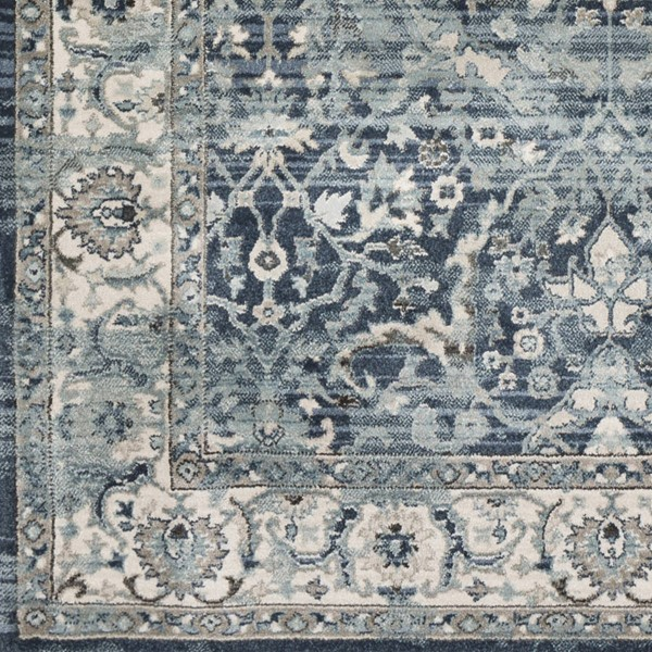 Surya Mesopotamia Navy Medium Gray Navy Polypropylene Sample Area Rug 18 x 18 MEP2306-1616