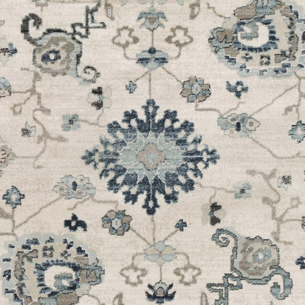 Surya Mesopotamia Medium Gray Ivory Camel Polypropylene Sample Area Rug 18 x 18 MEP2307-1616