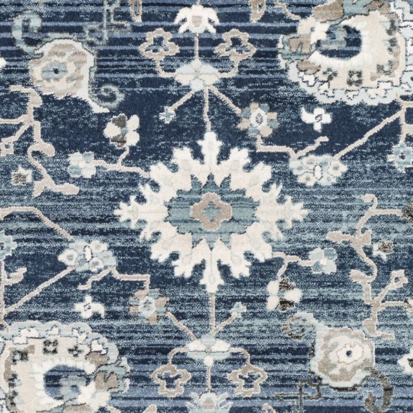 Surya Mesopotamia Medium Gray Navy Teal Polypropylene Sample Area Rug 18 x 18 MEP2310-1616
