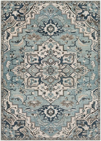 Surya Mesopotamia Medium Gray Denim Navy Polypropylene Area Rug 60 x 36 MEP2311-35