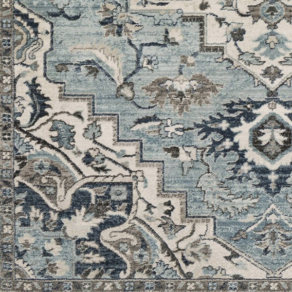 Surya Mesopotamia Medium Gray Denim Navy Polypropylene Sample Area Rug 18 x 18 MEP2311-1616