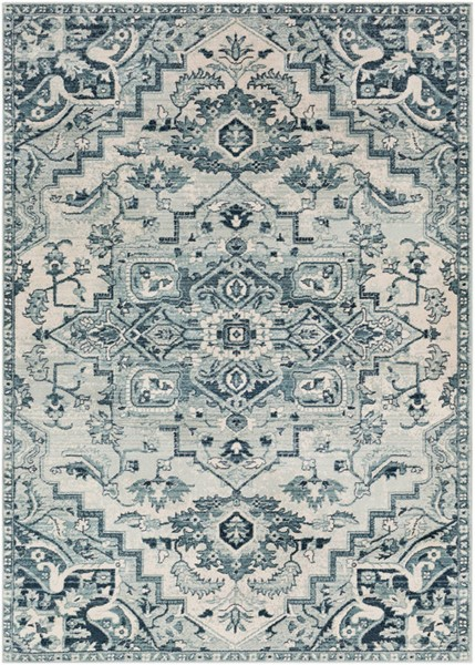 Surya Mesopotamia Medium Gray Denim Ivory Polypropylene Area Rug 60 x 36 MEP2313-35