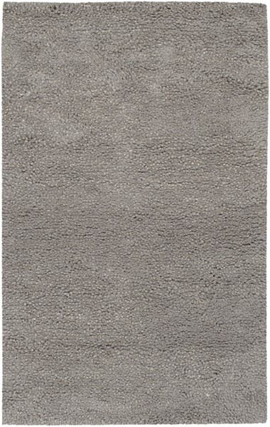 Metropolitan Contemporary Gray Wool Area Rug (L 96 X W 60) MET8686-58